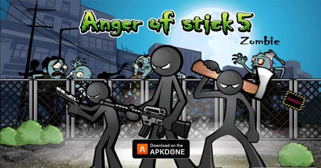 Anger of Stick 5: Zombie MOD APK 1.1.53 (Free Shopping) for Android